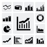 Business graph icons Royalty Free Stock Photo