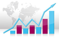 Business graph illustration Royalty Free Stock Image