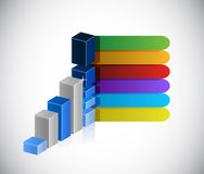Business graph and info graphic color lines Stock Image