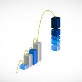 Business graph jump illustration design Stock Photo