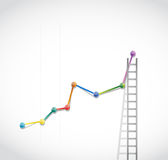 Business graph and ladder illustration design Royalty Free Stock Photo