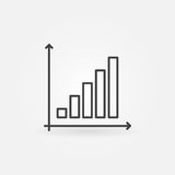 Business graph linear icon Royalty Free Stock Images