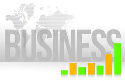 Business graph map and background illustration Royalty Free Stock Images