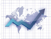 Business graph map illustration Stock Image