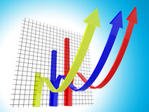 Business Graph Means Trend Statistics And Forecast Royalty Free Stock Photography
