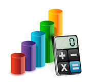 Business graph and modern calculator Royalty Free Stock Images