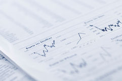 Business graph in newspaper Royalty Free Stock Photos