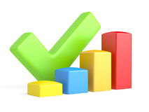 Business Graph an OK symbol Stock Photo
