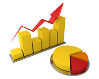 Business graph and pie chart Stock Image