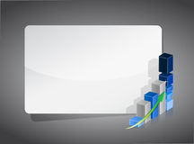 Business graph presentation board Royalty Free Stock Photo