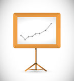 Business graph and presentation board. Illustration design over a white background Stock Image
