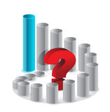 Business graph and question mark Royalty Free Stock Photo