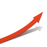 Business Graph, red arrow vector illustration Stock Images