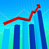 Business Graph Represents Data Graphs And Finance Stock Photo