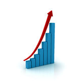 Business graph with rising arrow Stock Images