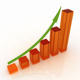 Business graph with rising arrow Royalty Free Stock Image