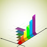 Business graph. Rising bar graph - vector illustration Royalty Free Stock Images
