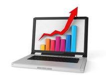 Business Graph on Screen Stock Photos