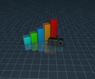 Business graph and seo tag Royalty Free Stock Photos
