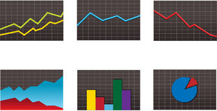 Business graph set Stock Photography