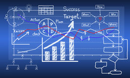 Business graph show Stock Image