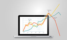 Business graph Stock Photography