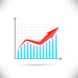 Business graph showing growth concept Stock Images