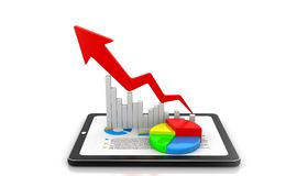 Business Graph showing profits and gains royalty free illustration