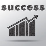 Business graph sketch with word success above Stock Photos