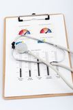Business graph with stethoscope Stock Photography