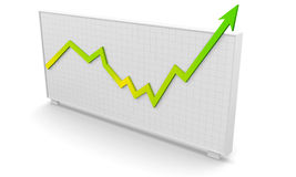 Business graph success. Business graph, arrow rising and showing success Stock Photo