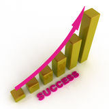 Business graph with success Royalty Free Stock Photo