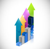 business graph and success up arrows Stock Image