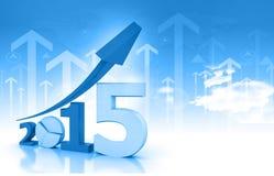 Business  graph of  thousand fifteen. Digital illustration Stock Photos