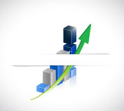 Business graph under a pocket. illustration design Royalty Free Stock Photos