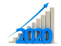 Business graph up 2020 stock photo