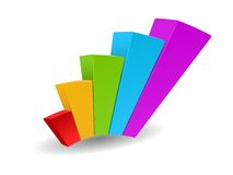 Business graph vector growth progress. This is file of EPS10 format Stock Image