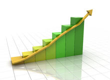 Business graph on white Stock Image