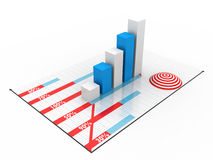 Business graph. On white background Stock Images