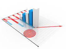 Business graph. On white background Stock Image