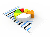 Business graph. On white background Stock Photos