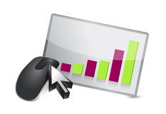 Business graph Wireless computer mouse Royalty Free Stock Photography