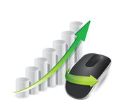Business graph Wireless computer mouse Stock Images