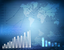 Business graph world map Stock Photography
