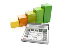 Business graphics and calculato Royalty Free Stock Photo