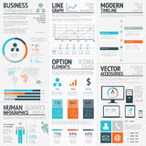 Business graphics data visualization vector element infographics Royalty Free Stock Image