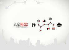 Business graphics with icons for infographics Stock Photography