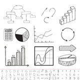 Business graphics. Set. Vector illustration Stock Photos