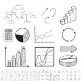 Business graphics. Set. Vector illustration Stock Photos