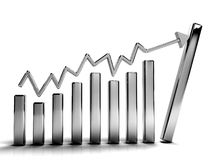 Business graphs Royalty Free Stock Images